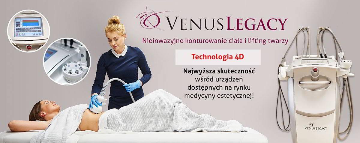 Venus Legacy, nieinwazyjne konturowanie ciała i lifting twarzy